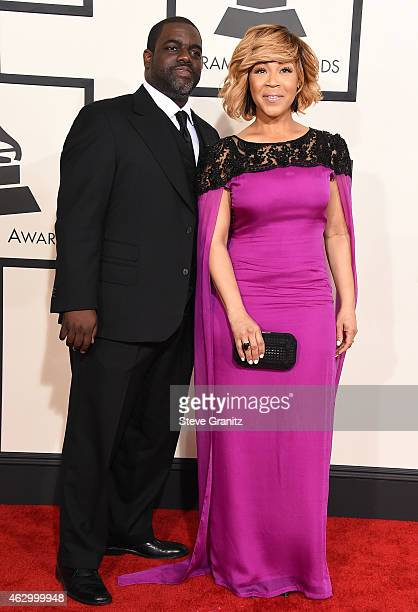 Record producer Warryn Campbell and recording artist Erica Campbell attend The 57th Annual GRAMMY Awards at the STAPLES Center on February 8 2015 in...