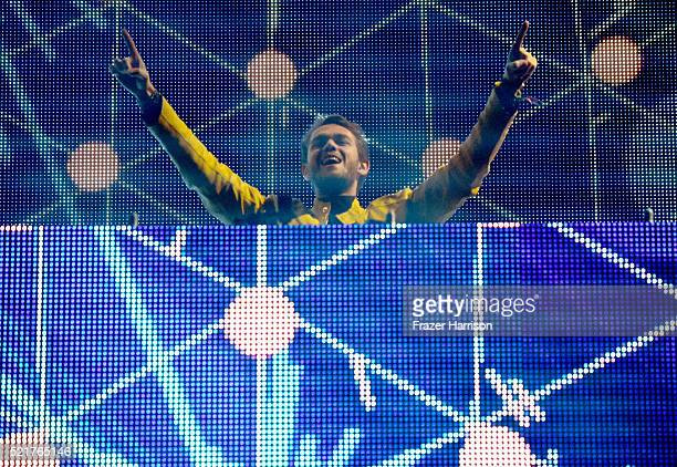 Record producer Zedd performs onstage during day 2 of the 2016 Coachella Valley Music Arts Festival Weekend 1 at the Empire Polo Club on April 16...
