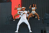 Record producer/rapper Walshy Fire and record producer Diplo of Major Lazer perform during the 2016 Panorama Festival on July 22 2016 in New York City
