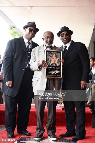 Record producers Jimmy Jam Harris and Terry Lewis attend a ceremony honoring Music Executive Clarence Avant with a star on the Hollywood Walk of Fame...