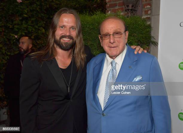 Record producers Max Martin and Clive Davis at City of Hope's Music Film and Entertainment Industry's Songs of Hope Event on September 28 2017 in...
