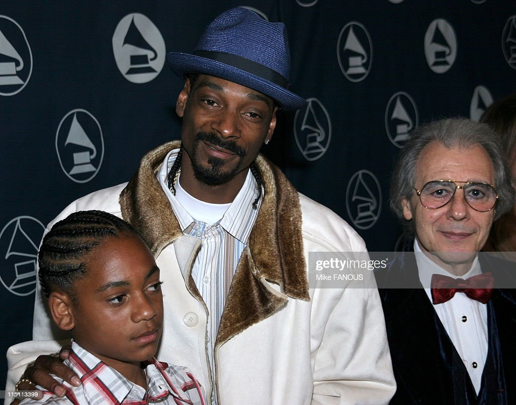 Recording Academy Honors in Hollywood United States on June 08 2006 Snoop Dogg and Lalo Schifrin at the Grand Ballroom of Hollywood and Highland
