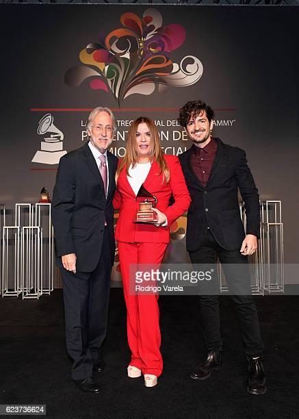 Recording Academy President Neil Portnow Lifetime Achievement Award recipitent Ednita Nazario and Recording artist Tommy Torres attend the 2016 Latin...