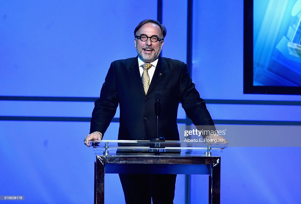 Recording Academy Vice President of Awards Bill Freimuth speaks onstage during the GRAMMY Pre-Telecast at The 58th GRAMMY Awards at Microsoft Theater on February 15, 2016 in Los Angeles, California.