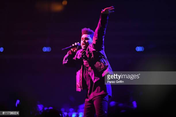 Recording aritst The Weeknd performs in concert at Philips Arena on May 13 2017 in Atlanta Georgia