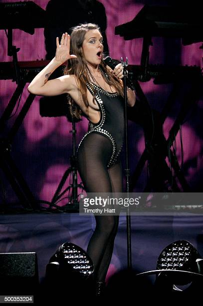 Recording artiist Tove Lo performs onstage during 1013 KDWB's Jingle Ball 2015 at Xcel Energy Center on December 7 2015 in St Paul Minnesota