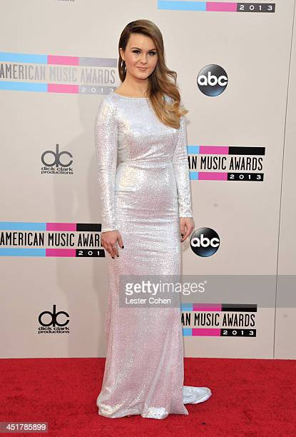 Recording artirst Ashlee Keating attends the 2013 American Music Awards at Nokia Theatre LA Live on November 24 2013 in Los Angeles California