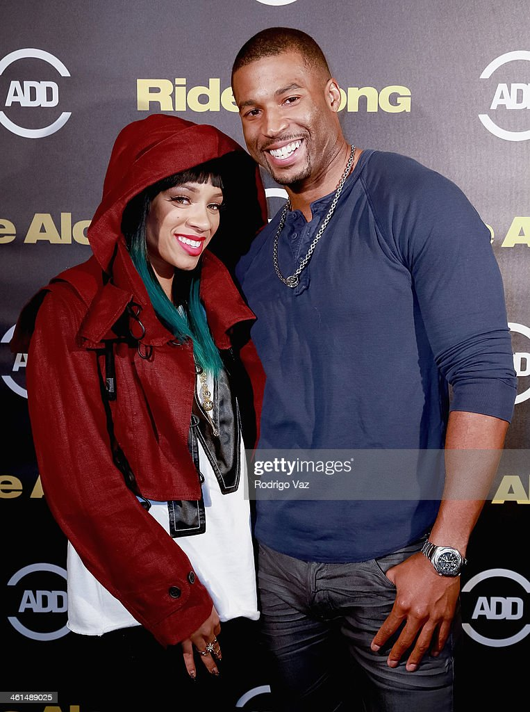 Recording artis <a gi-track='captionPersonalityLinkClicked' href=/galleries/search?phrase=Lil+Mama&family=editorial&specificpeople=4231669 ng-click='$event.stopPropagation()'>Lil Mama</a> (L) and actor Robert Christopher Riley attend the ADD Comedy Live! Special Screening of 'Ride Along' on January 8, 2014 in Los Angeles, California.