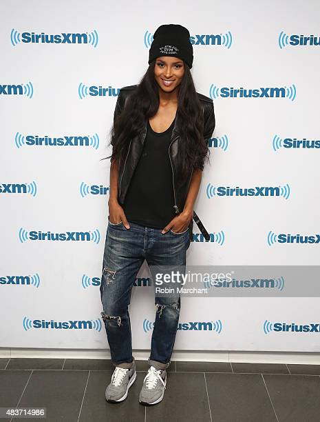 Recording artisit Ciara visits at SiriusXM Studios on August 12 2015 in New York City