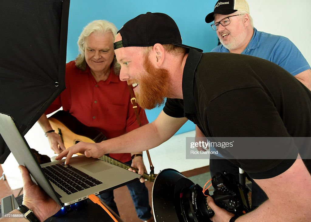 Recording Artisr Ricky Skaggs Photographer Brent Harrington and Art Director Ron Roark attend 2016 Dailey Vincent WaterFest Cruise Photo Shoot at...