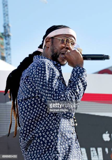 Recording artist 2 Chainz performs onstage at day one of BETX Live presented by Denny's during the 2017 BET Experience on June 22 2017 in Los Angeles...