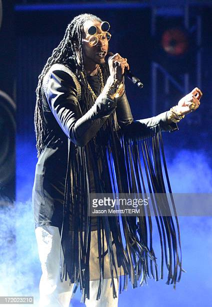 Recording Artist 2 Chainz performs onstage during the 2013 BET Awards at Nokia Theatre LA Live on June 30 2013 in Los Angeles California
