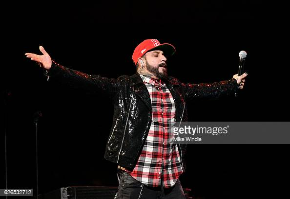 Recording artist A J McLean of music group Backstreet Boys performs onstage at 1061 KISS FM's Jingle Ball 2016 presented by Capital One at American...
