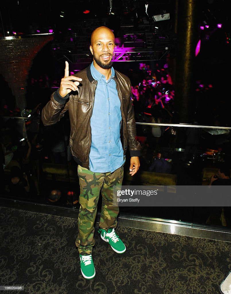 Recording artist & actor Common appears at Haze Nightclub at the Aria Resort & Casino at CityCenter on November 10, 2012 in Las Vegas, Nevada.