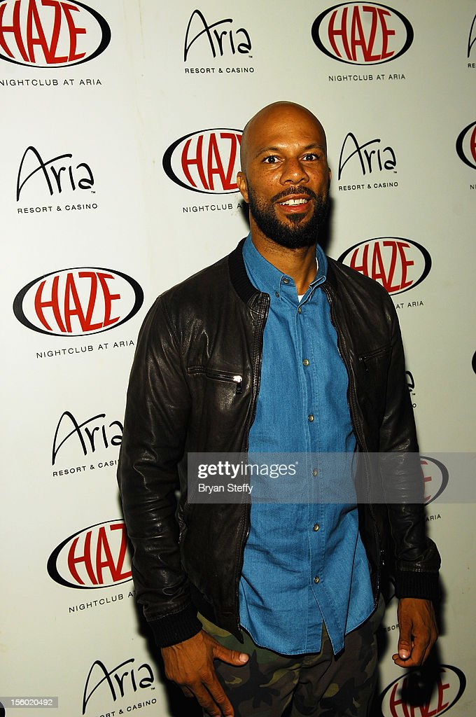 Recording artist & actor Common arrives at Haze Nightclub at the Aria Resort & Casinio at CityCenter on November 10, 2012 in Las Vegas, Nevada.