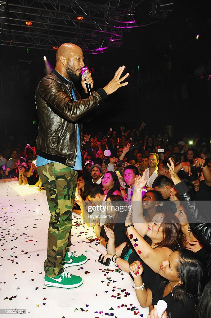 Recording artist & actor Common performs at Haze Nightclub at the Aria Resort & Casino at City Center on November 10, 2012 in Las Vegas, Nevada.