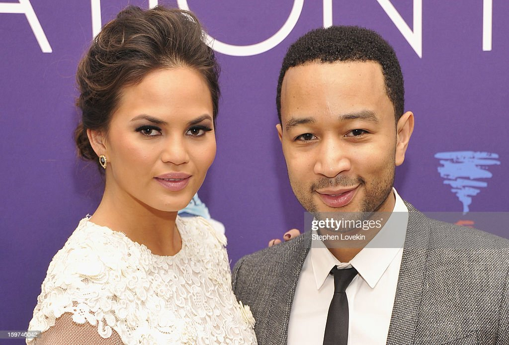 Recording artist, actor <a gi-track='captionPersonalityLinkClicked' href=/galleries/search?phrase=John+Legend&family=editorial&specificpeople=201468 ng-click='$event.stopPropagation()'>John Legend</a> and Chrissy Teigen attend the Generation Now Inaugural Youth Ball hosted by OurTime.org on January 19, 2013 in Washington, United States.