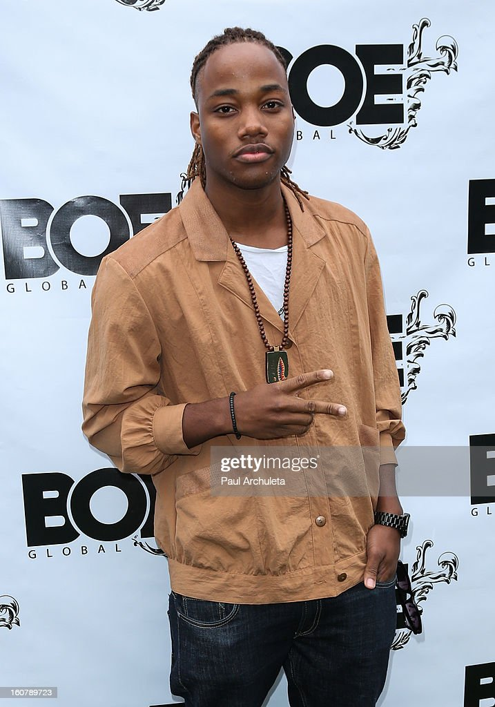 Recording Artist / Actor <a gi-track='captionPersonalityLinkClicked' href=/galleries/search?phrase=Leon+Thomas+III+-+Actor&family=editorial&specificpeople=734709 ng-click='$event.stopPropagation()'>Leon Thomas III</a> attends the 1st Annual Grammy Producers Brunch at Xen Lounge on February 5, 2013 in Los Angeles, California.