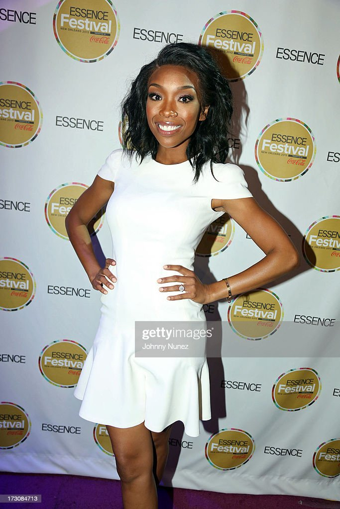 Recording artist/ actress <a gi-track='captionPersonalityLinkClicked' href=/galleries/search?phrase=Brandy+Norwood&family=editorial&specificpeople=202122 ng-click='$event.stopPropagation()'>Brandy Norwood</a> attends the 2013 Essence Festival at the Ernest N. Morial Convention Center on July 6, 2013 in New Orleans, Louisiana.