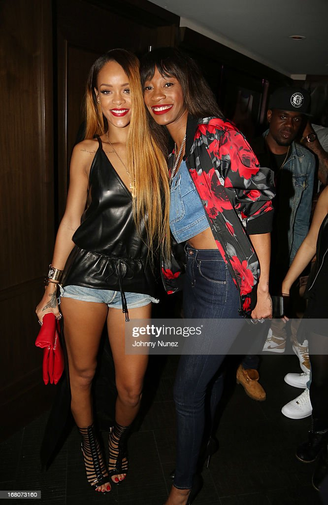Recording artist/ actress <a gi-track='captionPersonalityLinkClicked' href=/galleries/search?phrase=Rihanna&family=editorial&specificpeople=453439 ng-click='$event.stopPropagation()'>Rihanna</a> (L) and Melissa Forde attend the <a gi-track='captionPersonalityLinkClicked' href=/galleries/search?phrase=Rihanna&family=editorial&specificpeople=453439 ng-click='$event.stopPropagation()'>Rihanna</a> After Party + Fight at the 40 / 40 Club on May 4, 2013, in New York City.