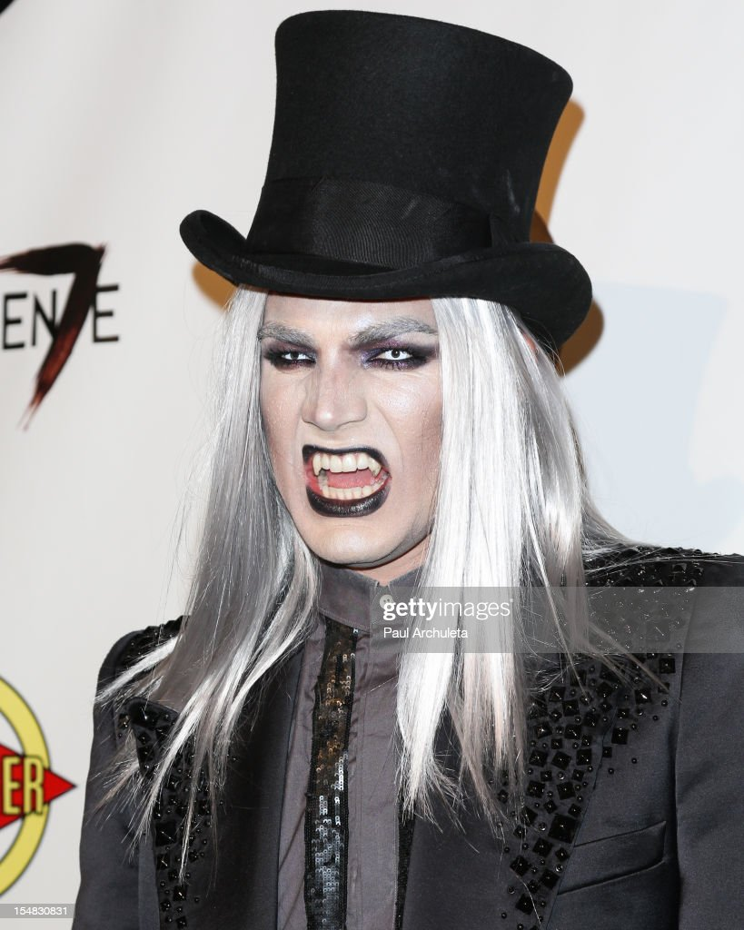 Recording Artist <a gi-track='captionPersonalityLinkClicked' href=/galleries/search?phrase=Adam+Lambert&family=editorial&specificpeople=5706674 ng-click='$event.stopPropagation()'>Adam Lambert</a> attends Fred & Jason's annual Halloweenie charity event at The Lot on October 26, 2012 in West Hollywood, California.