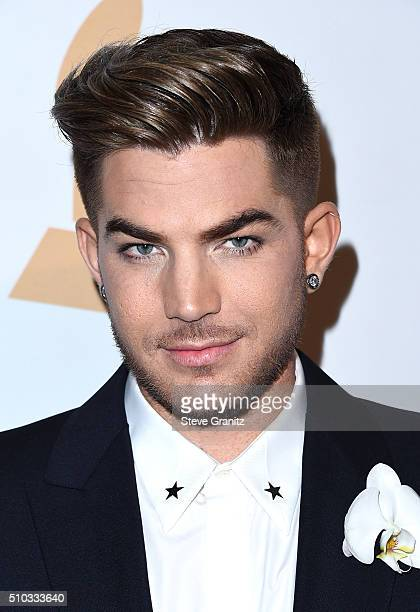 Recording artist Adam Lambert attends the 2016 PreGRAMMY Gala and Salute to Industry Icons honoring Irving Azoff at The Beverly Hilton Hotel on...