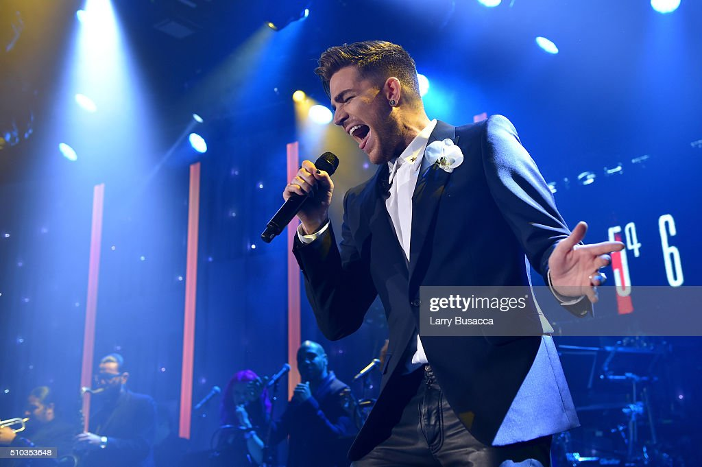 Recording artist Adam Lambert performs onstage during the 2016 Pre-GRAMMY Gala and Salute to Industry Icons honoring Irving Azoff at The Beverly Hilton Hotel on February 14, 2016 in Beverly Hills, California.