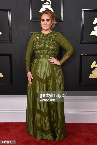Recording artist Adele attends The 59th GRAMMY Awards at STAPLES Center on February 12 2017 in Los Angeles California