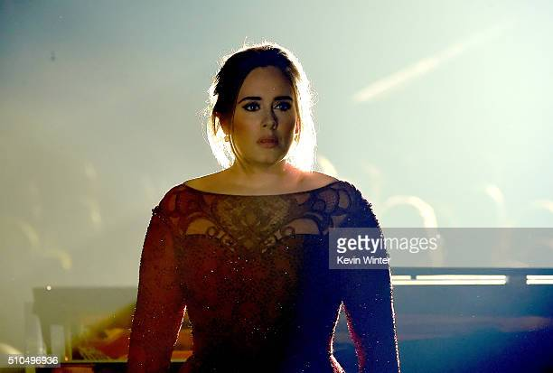 Recording artist Adele performs onstage during The 58th GRAMMY Awards at Staples Center on February 15 2016 in Los Angeles California