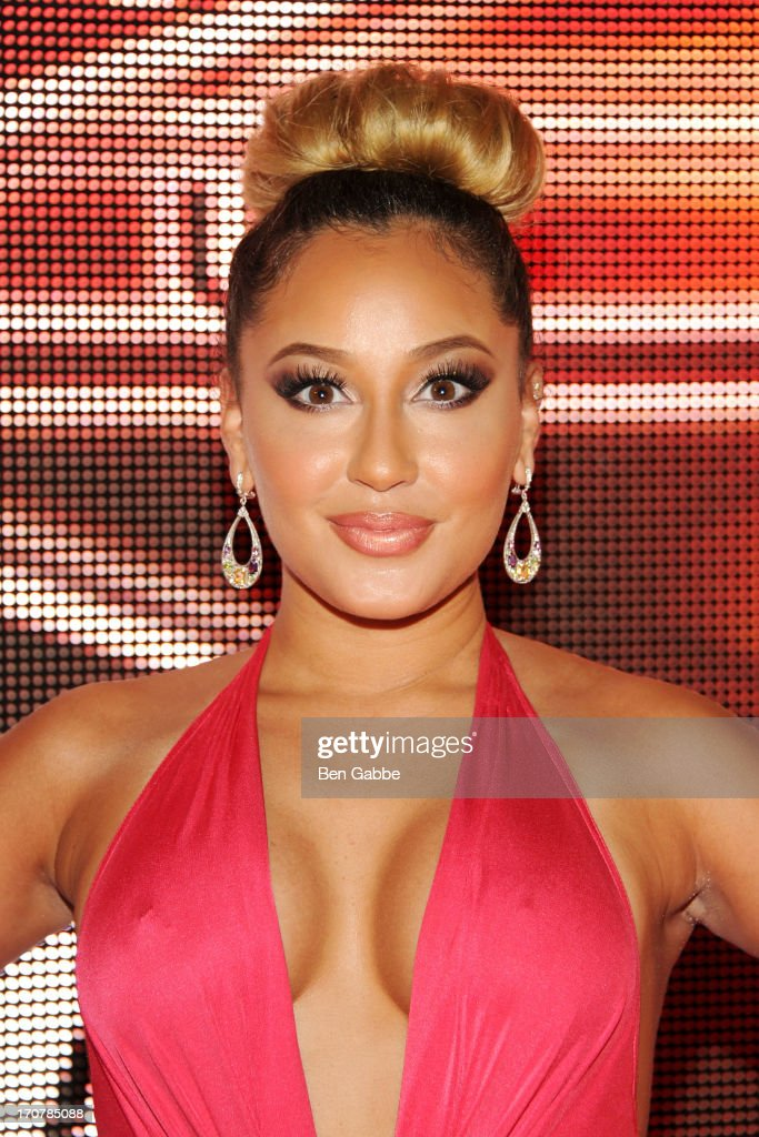 Recording artist <a gi-track='captionPersonalityLinkClicked' href=/galleries/search?phrase=Adrienne+Bailon&family=editorial&specificpeople=540286 ng-click='$event.stopPropagation()'>Adrienne Bailon</a> attends The 40/40 Club 10 Year Anniversary Party at 40 / 40 Club on June 17, 2013 in New York City.
