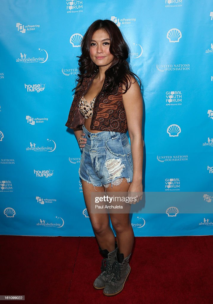 Recording Artist Agnes Monica attends the 'mPowering Action' platform launch at The Conga Room at L.A. Live on February 8, 2013 in Los Angeles, California.