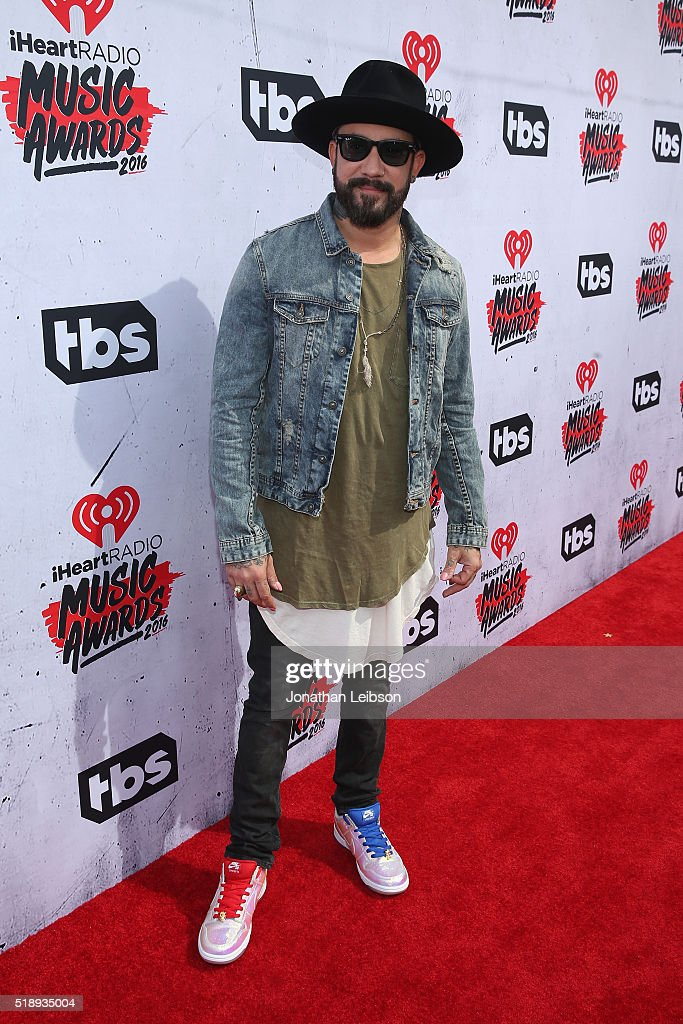 recording-artist-aj-mclean-attends-the-iheartradio-music-awards-at-picture-id518935004