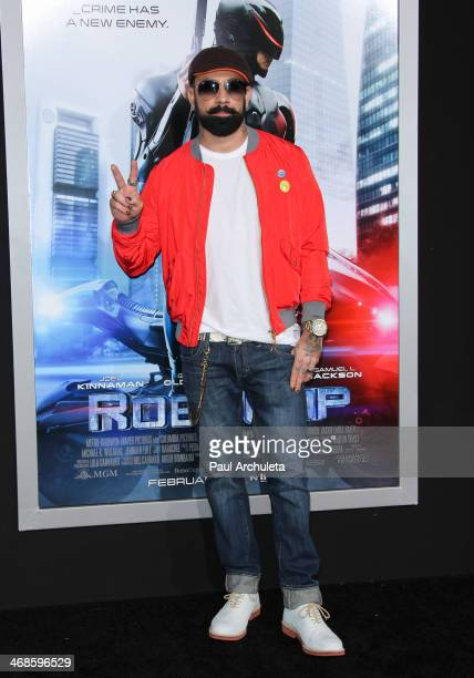 Recording Artist AJ Mclean attends the Los Angeles premiere of 'Robocop' on February 10 2014 in Hollywood California