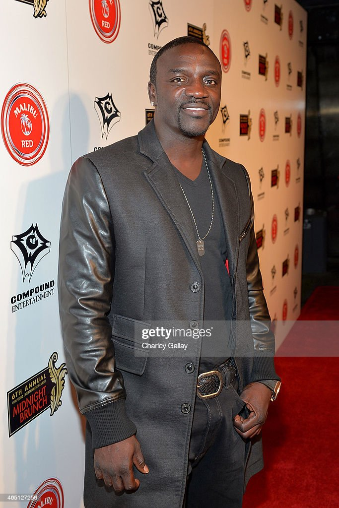 Recording artist Akon attends the annual Midnight Grammy Brunch hosted by Ne-Yo and Malibu Red at Lure Nightclub on January 26, 2014 in Hollywood, California.