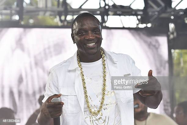Recording artist Akon performs onstage at 2015 Passport Experience Festival at Centennial Olympic Park on July 19 2015 in Atlanta Georgia