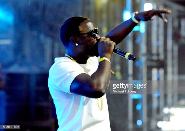 Recording artist Akon performs onstage during day 2 of the 2016 Coachella Valley Music Arts Festival Weekend 2 at the Empire Polo Club on April 23...