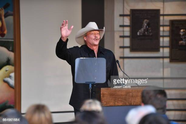 Recording Artist Alan Jackson accepts invitation into Country Music Hall of Fame and speaks during the 2017 Hall of Fame Inductees Announcement where...