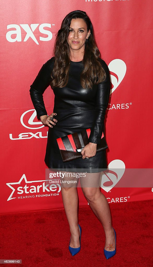 Recording artist Alanis Morissette attends the 2015 MusiCares Person of the Year Gala honoring Bob Dylan at the Los Angeles Convention Center on February 6, 2015 in Los Angeles, California.