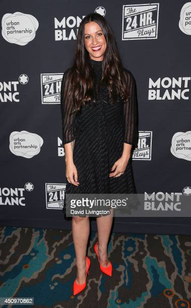 Recording artist Alanis Morissette attends the 4th annual production of the 24 Hour Plays in Los Angeles to benefit Urban Arts Partnership at The...