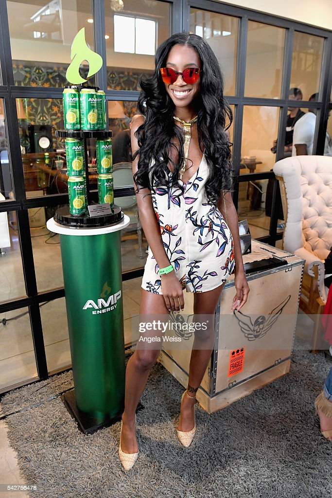 Recording artist Alexis Ayaana attends Next Level Presented By AMP Energy A Hip Hop Gaming Tournament at Rostrum Records on June 23 2016 in Los...