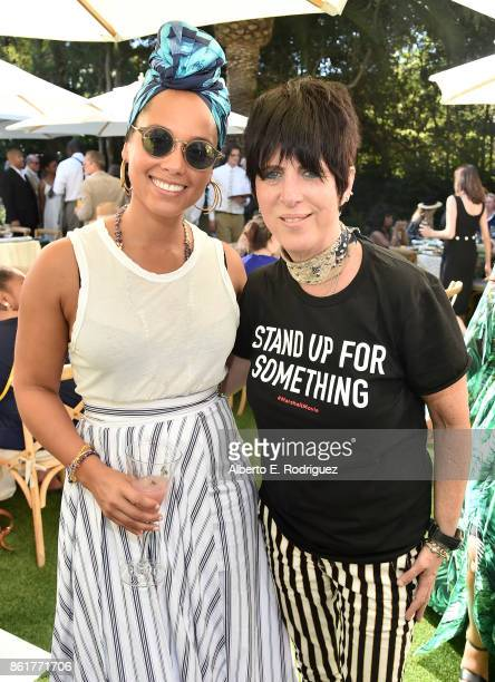 Recording artist Alicia Keys and songwriter Diane Warren attend Oprah Winfrey's Gospel Brunch celebrating her new book 'Wisdom of Sundays' on October...