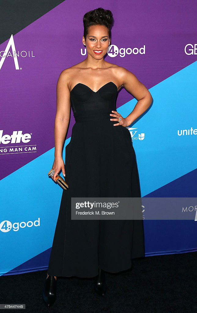 Recording artist Alicia Keys attends united4: good and Variety Magazine Present 'united4:humanity' at Sony Pictures Studios on February 27, 2014 in Culver City, California.