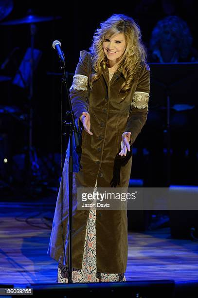 Recording Artist Alison Krauss performs at Country Music Hall of Fame and Museum on October 27 2013 in Nashville Tennessee