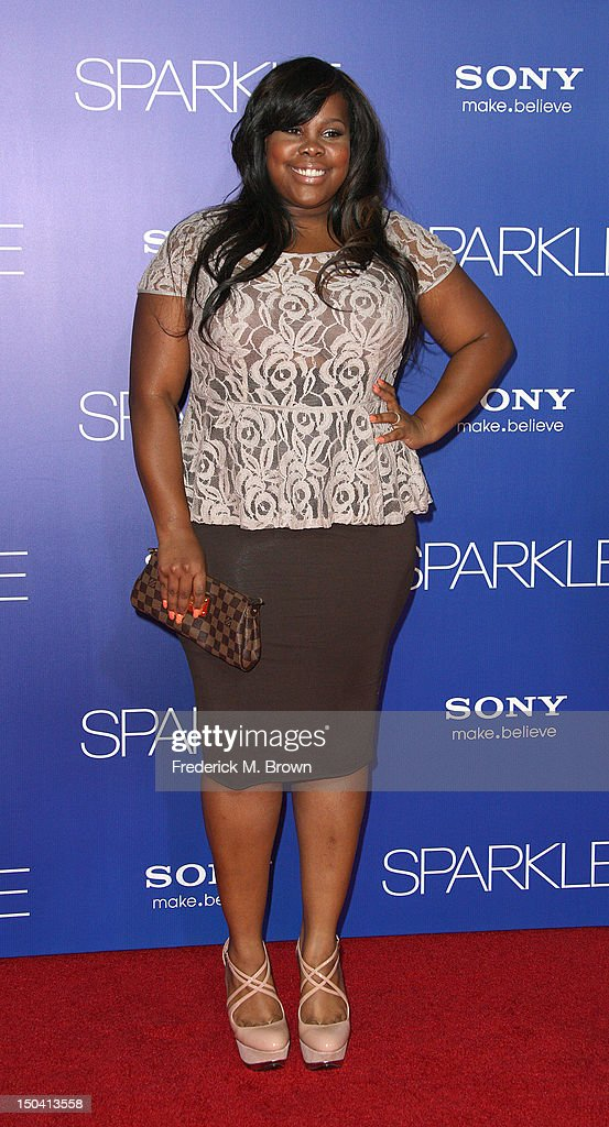 Recording artist Amber Riley attends the Premiere Of Tri-Star Pictures' 'Sparkle' at Grauman's Chinese Theatre on August 16, 2012 in Hollywood, California.