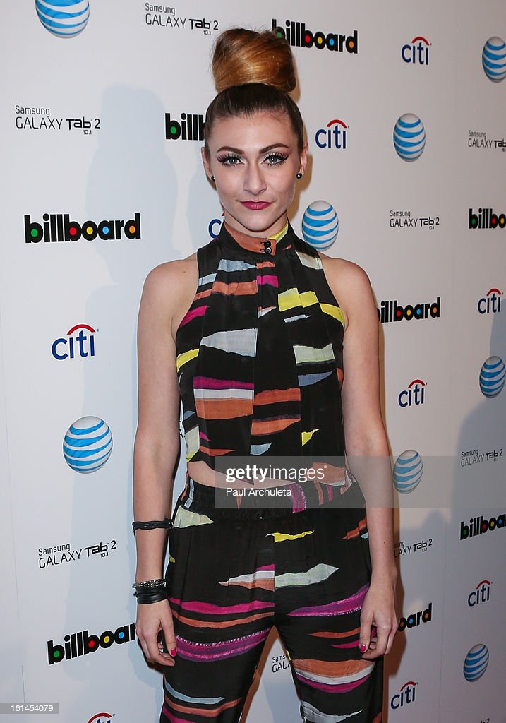 Recording Artist Amy Heidemann of Rock Bnad Karmen attends The Billboard GRAMMY after party at The London Hotel on February 10, 2013 in West Hollywood, California.