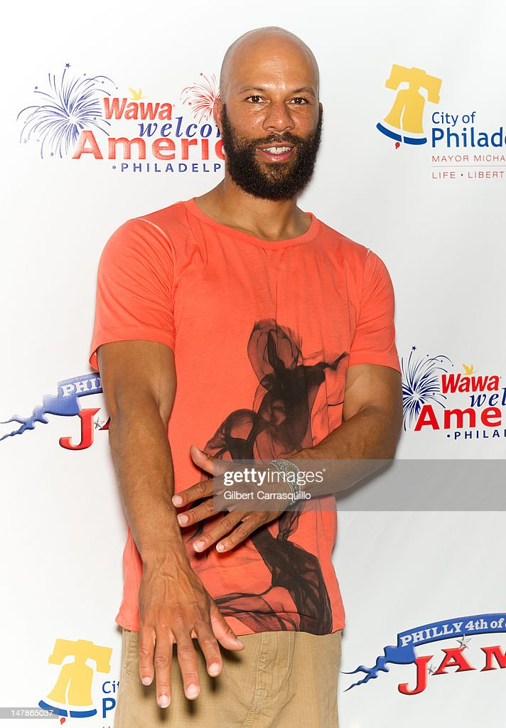 Recording artist and actor Common poses backstage at the Philly Fourth Of July Jam at Benjamin Franklin Parkway on July 4, 2012 in Philadelphia, Pennsylvania.