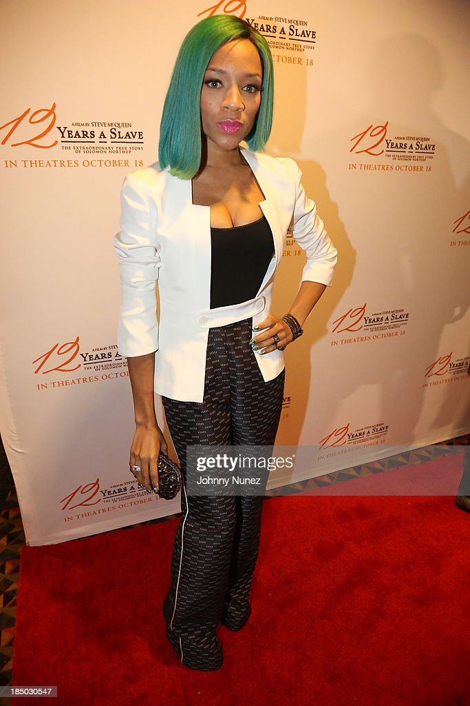 Recording artist and actor Lil Mama attends the '12 Years A Slave' screening at AMC Empire 25 Theater on October 16, 2013 in New York City.