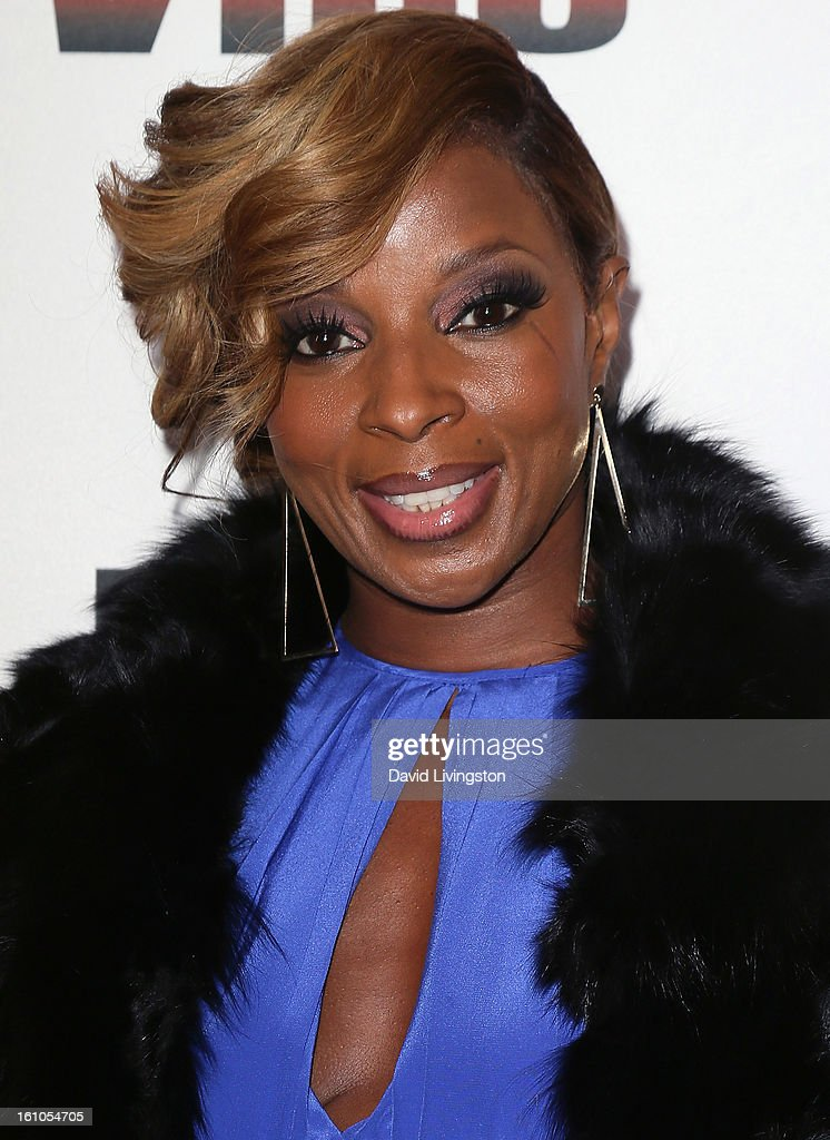 Recording artist and evening honoree Mary J. Blige attends VIBE's 20th Anniversary Celebration and Inaugural Impact Awards at the Sunset Tower Hotel on February 8, 2013 in West Hollywood, California.