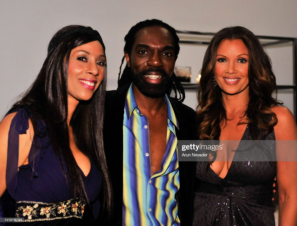 Recording artist and magazine editor Kaylene Peoples, designer Kevan Hall, and actor Vanessa Williams attend 'Meet The Designer and the Muse' at Ace Gallery on March 8, 2012 in Los Angeles, California.
