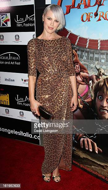 Recording artist and member of 'The Paradiso Girls' Aria Crescendo attends the 8th Annual Los Angeles Italia Film Fashion and Art Festival Opening...